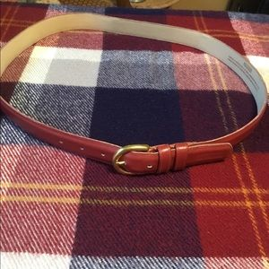 Coach XL Red Leather Belt, total length 43.5""